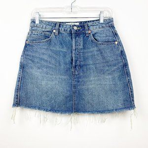 WE THE FREE PEOPLE Denim Raw Button Fly Skirt 27